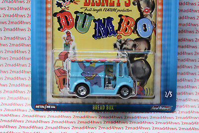 2019 Hot Wheels DISNEY Dumbo  moc POP CULTURE Bread BOX real riders MB