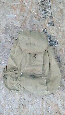 Vintage Original WW2 US Army Military Field Backpack Rucksak Canvas & Frame Bag