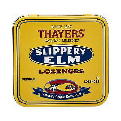 Thayers Slippery Elm Lozenges, Original, 42 Ct