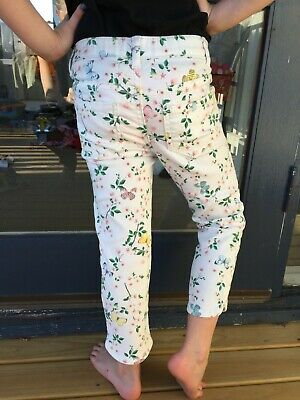 Girls jeans H&M, size 5 butterfly print, great condition