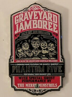 Disney Parks Haunted Mansion Phantom Five Graveyard Jamboree Trading Pin - NEW