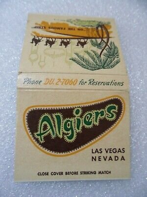 Las Vegas older ALGIERS Casino Club Hotel matchbook matchcover RARE chips #1