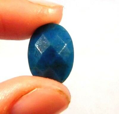 Dyed Faceted Blue Sapphire Gemstone 5 ct 13x9mm W455