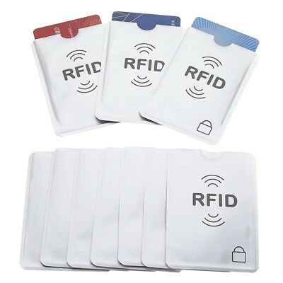 10x NFC RFID Card Sleeve Wallet Blocking Protector Debit Credit Case Holder  #be