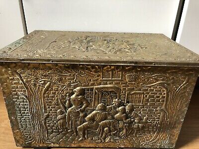 Large Brass Chest Box, Lovely Metal Work