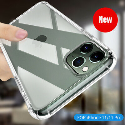 For iPhone 11 Pro Max Airbag Shockproof Silicone Clear Soft TPU Back Case Cover
