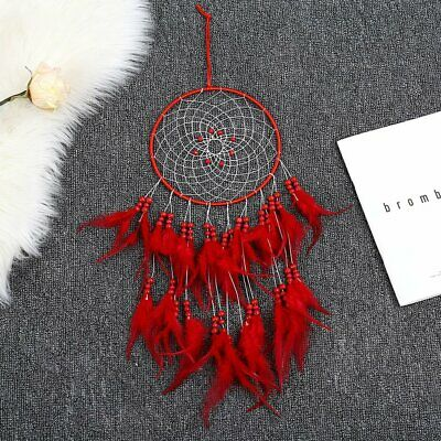 Tassel Catching Monternet Large Red Dream Catcher Feathers Home Decor OC-2042#Z