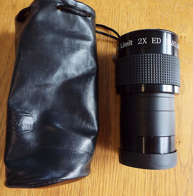 "2"" 2X ED Barlow lens with case and 1.25"" lens adapter"