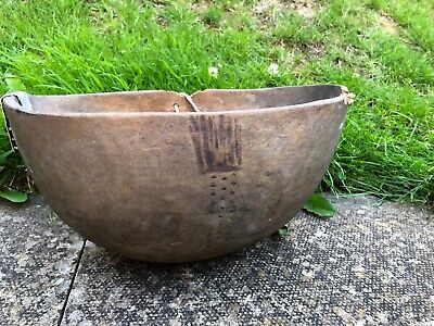 Antique African Carved Wooden Tribal Bowl