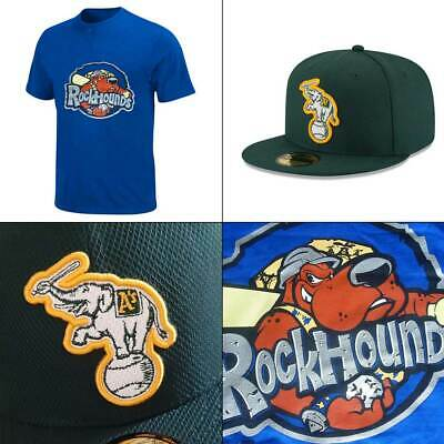 Oakland Athletics 5FIFTY Fitted Cap + Midland RockHounds 2 Button MiLB Tee