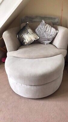 Super Dfs Cuddle Swivel Chair In Charcoal 70 00 Picclick Uk Bralicious Painted Fabric Chair Ideas Braliciousco