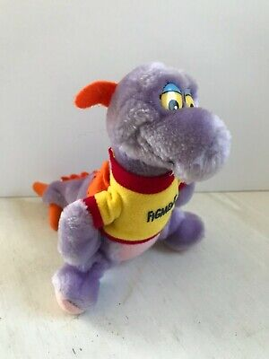 "Vintage 1982 Walt Disney World 7"" FIGMENT Plush Doll Purple Dragon Epcot"