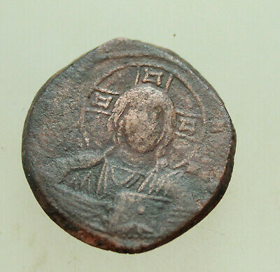 ANONYMOUS. Time of Basil II. 976-1025 AD. Æ 29mm Follis. Constantinople Christ