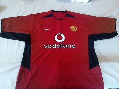 Manchester United 2002-04 Home Football Shirt Mens L Vodaphone Nike