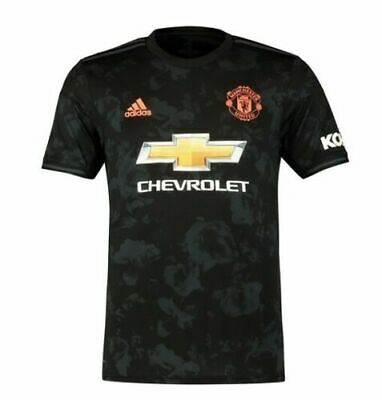 Manchester United Third Shirt 2019/20,Black Colour Short Sleeve Adult Kit SALE