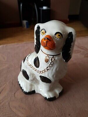 Antique  Of Staffordshire  Spaniel Dog Ceramic Figure from 1840 to1880