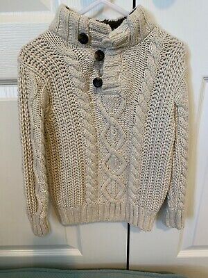 Baby Gap Toddler Boys Size 2T Long Sleeve Cable Knit Fisherman's Sweater