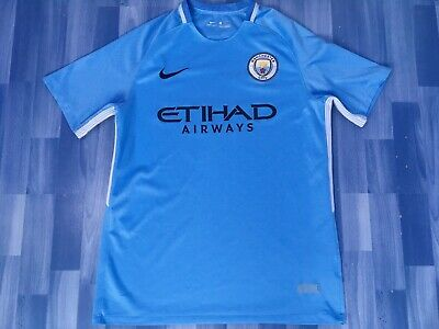 Large Adults Manchester City Football Shirt Season 2017-2018 Home