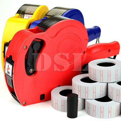 New MX5500 Pricing Gun Labeller Shop Office Free 10 Rolls Price Label Spare Ink
