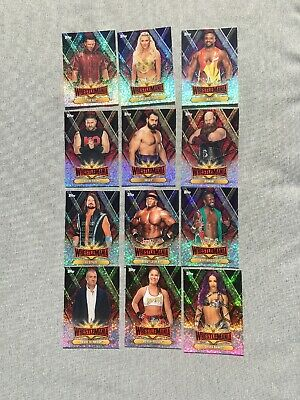 2019 WWE Topps Champions Wrestlemania Cards X12