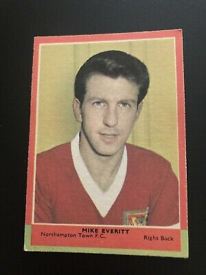 A&BC FOOTBALLERS CARD No 101 MIKE EVERITT  3rd SERIES RED BACK QUIZ. 1964.