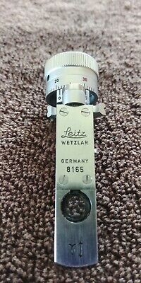 Leica Polarized Berek Tilting Compensator Microscope Slide Beautiful !