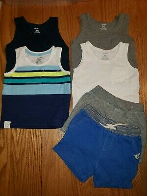 CARTER'S Baby Boy Size 9 Month LOT of 6 Pieces Outfits