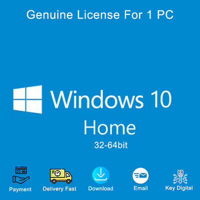 Windows 10 Home 32&64 bit Activation Key Link Digital Genuine