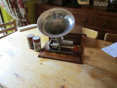A good working Paillards Echophone  cylinder phonograph with horn +2 cylinders