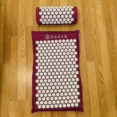 Kanjo Premium Acupressure Therapy Memory Mat And Pillow With Travel Bag