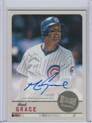 MARK GRACE 2019 Topps Archives Snapshots BASE AUTO Cubs #AS-MG QTY