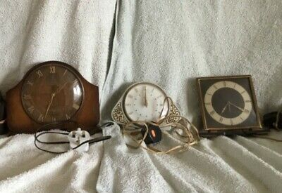 Vintage Electric Clock Job Lot Metamec Dereham,Metamec&SmithsSectric all Working