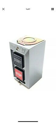 Square D 9001BG201 Push Button Control Station, 2 Momentary Start/Stop