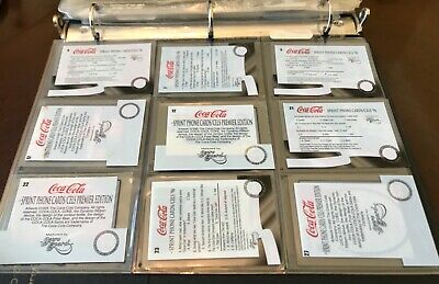 Lot of 9 Different Used Phone Cards Coke Sprint/Cels Premier Edition & Regular 2