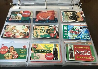 Lot of 9 Different Used Phone Cards Coke Coca-Cola Premier Cels & Regular (8)