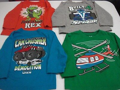 Toddler Boys Size 24 Months Long Sleeve Shirts Lot of 4