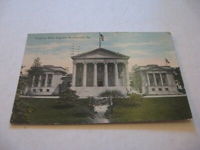 vintage antique color picture postcard Virginia State Capitol Richmond VA
