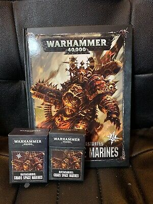 Warhammer 40K Chaos Space Marines Codex Ii 2019 Edition And Data Cards