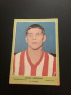 A&BC FOOTBALLERS CARD No 121 JHON CROSSAN 3rd SERIES RED BACK QUIZ. 1964.