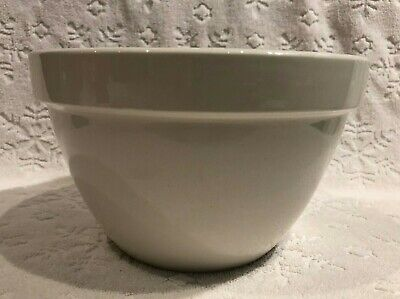 Vintage T G Green Church-Gresley; Ascot-White Ceramic Rimmed Pudding-Mixing-Bowl