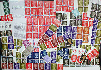 GB 1967 Machin Mint Blocks / Booklets etc