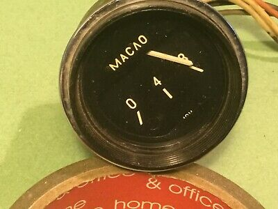 "Car voltage gauge 12V Classic car CCCP Classic car dashboard MACAO 2"" chrome"