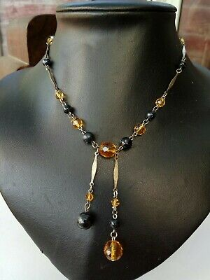 A stunning Vintage 1920s /30s Art Deco czech Glass bead Cocktail Necklace