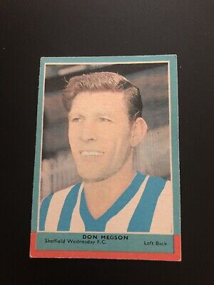 A&BC FOOTBALLERS CARD No 111 DON MEGSON 3rd SERIES RED BACK QUIZ. 1964.