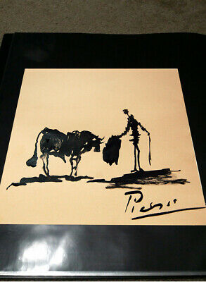 Pablo Picasso Original Oil Drawing Painting. Signed.