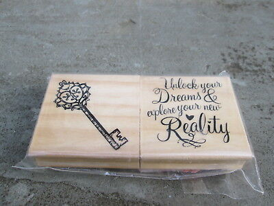 Rubber Stamp 2 Pc Skeleton Room Key Unlock Your Dream Explore New Reality Escape