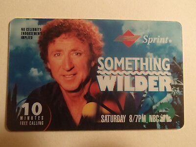 1994 NBC Fall Lineup Phonecard Expired Gene Wilder TV Show Something Wilder