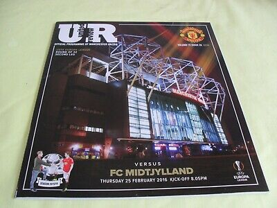 Manchester United,United Review Official Programme,Uefa Europa League 25 Feb 16