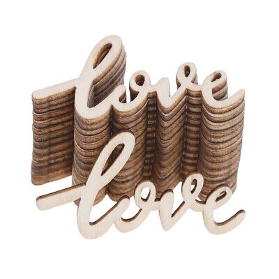 15pcs Wooden LOVE Table Confetti Scatter Vintage Rustic Wedding Party Decor FES