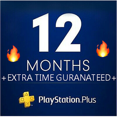 PS plus 12 months - PS4 - PS3 - PS vita + Extra time !